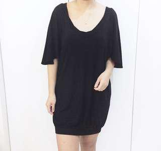 Black lazy dress