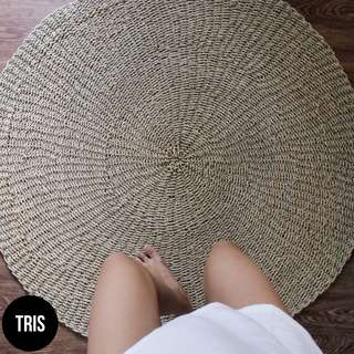 SEAGRASS ROUND NATURAL RUG 120CM