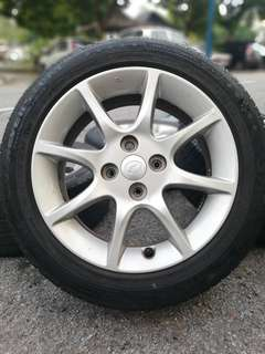 Original alza advance 15 inch sports rim tyre 70%
