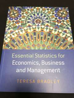 Essential Statistics for Economics, Business & Management