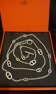 [NEW] Hermes 120cm Farandole Long Necklace Silver 925純銀頸鍊