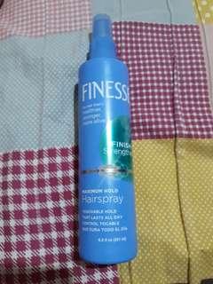 Finesse maximum hold hair spray