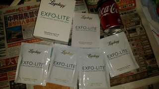 Legology Exfo-Lite stimulating Salts for legs, 4 bags, produced in year 2015, trade in Tuen.Mun  20$ by mail