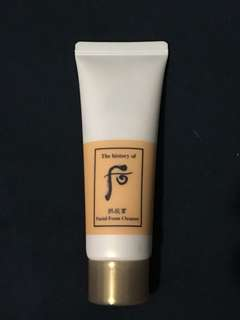 History of whoo foam cleanser