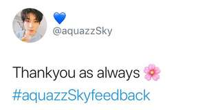 Feedback on twitter #aquazzSkyfeedback