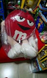 全新M&M's超大型紅M玩偶