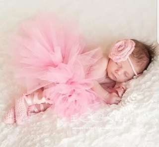 Baby Pink Tulle - Baby Photoshoot Costume
