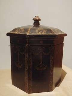 仿古純木儲物箱
