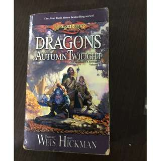 🚚 Dragons of Autumn Twilight Novel by Margaret Weis and Tracy Hickman