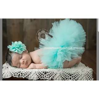Baby Seaglass Tulle - Baby Photoshoot Costume