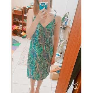 🚚 波西米亞海島風渡假細肩洋裝