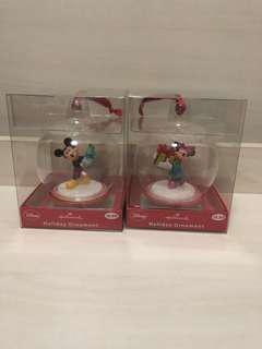米奇老鼠和米妮老鼠聖誕球組合/ Disney Christmas Ornaments set
