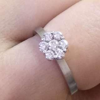 🈹️18k金天然鑽石戒指 Pinkbox牌子 平售$3600