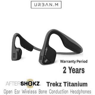 AfterShokz Trekz Titanium Open Ear Wireless Bone Conduction Headphones (Gray)
