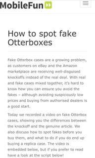 ‼️BE AWARE...PLS READ‼️HOW TO SPOT FAKE OTTERBOX (DEFENDER)