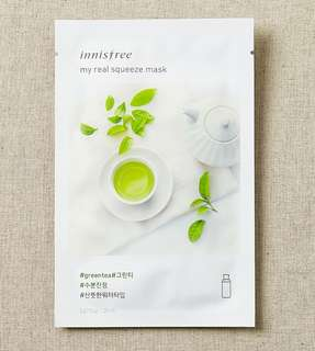 Innisfree my real squeeze mask - Green tea, Cucumber and Rose