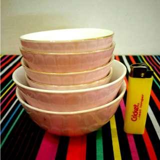 Vintage Pink Bowls