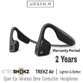AfterShokz Trekz Air Open Ear Wireless Bone Conduction Headphones (Slate Grey)
