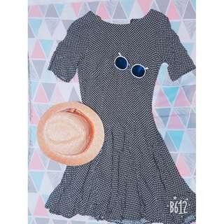 🚚 黑白格子紋小洋裝