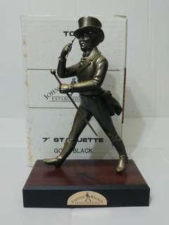 Johnnie Walker 威士忌 英國製 店頭木座擺設 7吋高