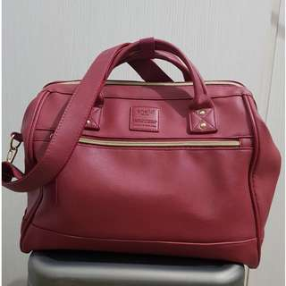 Anello red leather bag