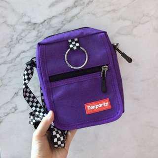 🚚 全新限定,紫色格紋小包