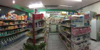 Pharma + convenience/mini grocery store