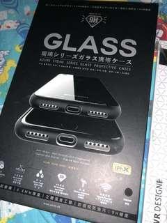 IPhone X 黑色 玻璃面 手機殼
