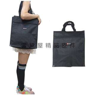 ~雪黛屋~BIYATI 提袋大容量才藝袋手提帶可調整簡單上學書包以外放置教具品雨衣傘便當袋台灣製造可放A4資夾#1350