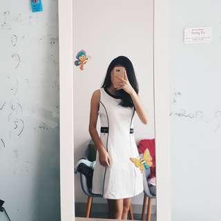 Johanna Black Line Dress