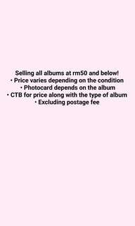 KPOP ALBUM CLEARANCE
