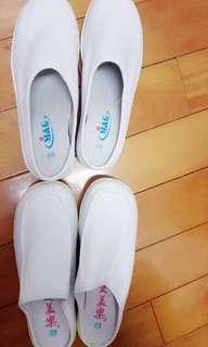 ✅真皮 白鞋 拖鞋  護士鞋 69