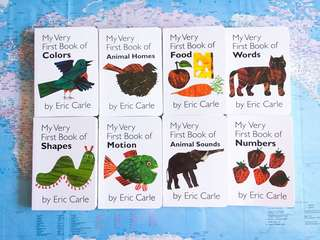 New~ Eric Carle My Very First Library 8 Book full set