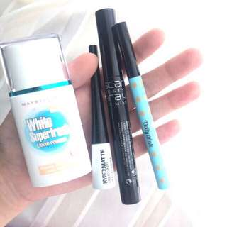 Dolly Wink Eyeliner & Maybelline Eyeliner Hypermatte