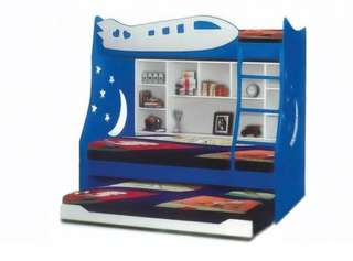 Offer aeroplane bunk beds single+single+single