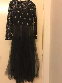 Dinner dress, prom dress, black dress