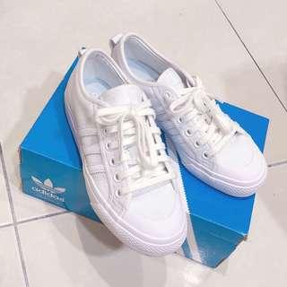 🚚 Adidas Nizza 全白 奶油頭 帆布鞋 BZ0496