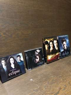 Twilight and Eclipse Music CDs / New Moon & Twilight DVDs