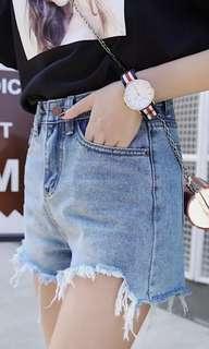 🚚 (全新)高腰休身顯瘦前短後長短褲