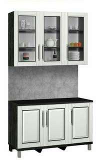 Kitchen set 3p atas kaca 3p bawah