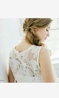 🚚 💢重磅精緻刺繡鏤空雪紡拼接蕾絲洋裝