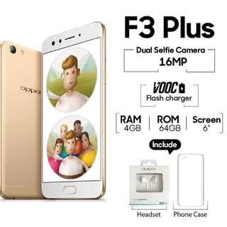 Oppo F3 Plus 64GB Gold