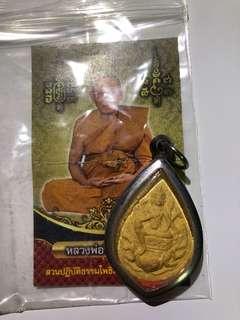Lp Jued four face Buddha Thai amulet