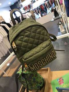 MOSCHINO medium bacpack 綠/桃紅兩色