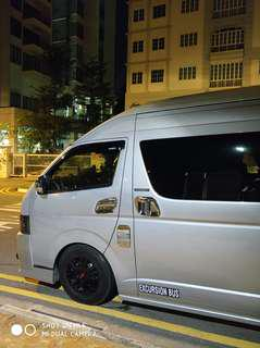 Maxicab and 13 Seater Coach.