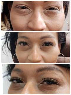 6D Eyelashes extention . No lashes also dont worry shorter all can make . 6d eyelashes make your eyelash look think but natural