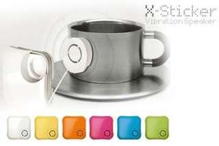 📯旅行共震喇叭茶杯都可發聲乾濕電兩用共振X-Sticker Travel Resonance Horn Vibration Loud Speaker