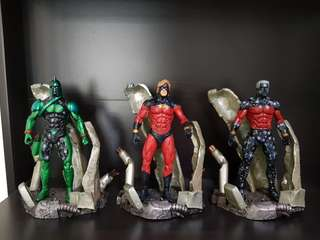Marvel Select Captain Marvel | Genis Vell | Kree Soldier Variant | Set of 3