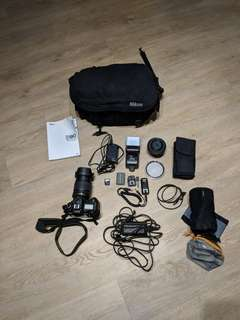 Nikon D90 with accesories