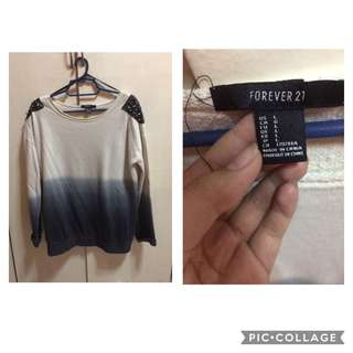 Dark Blue Ombre Sweater (Forever 21)